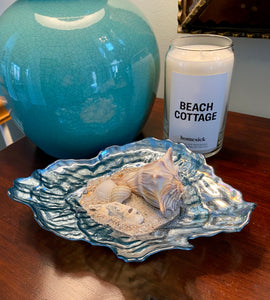 Oyster Shell Dish With Sea Shells