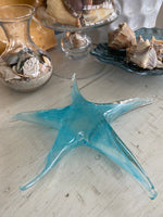 Load image into Gallery viewer, Turquoise Starfish Glass Figurine