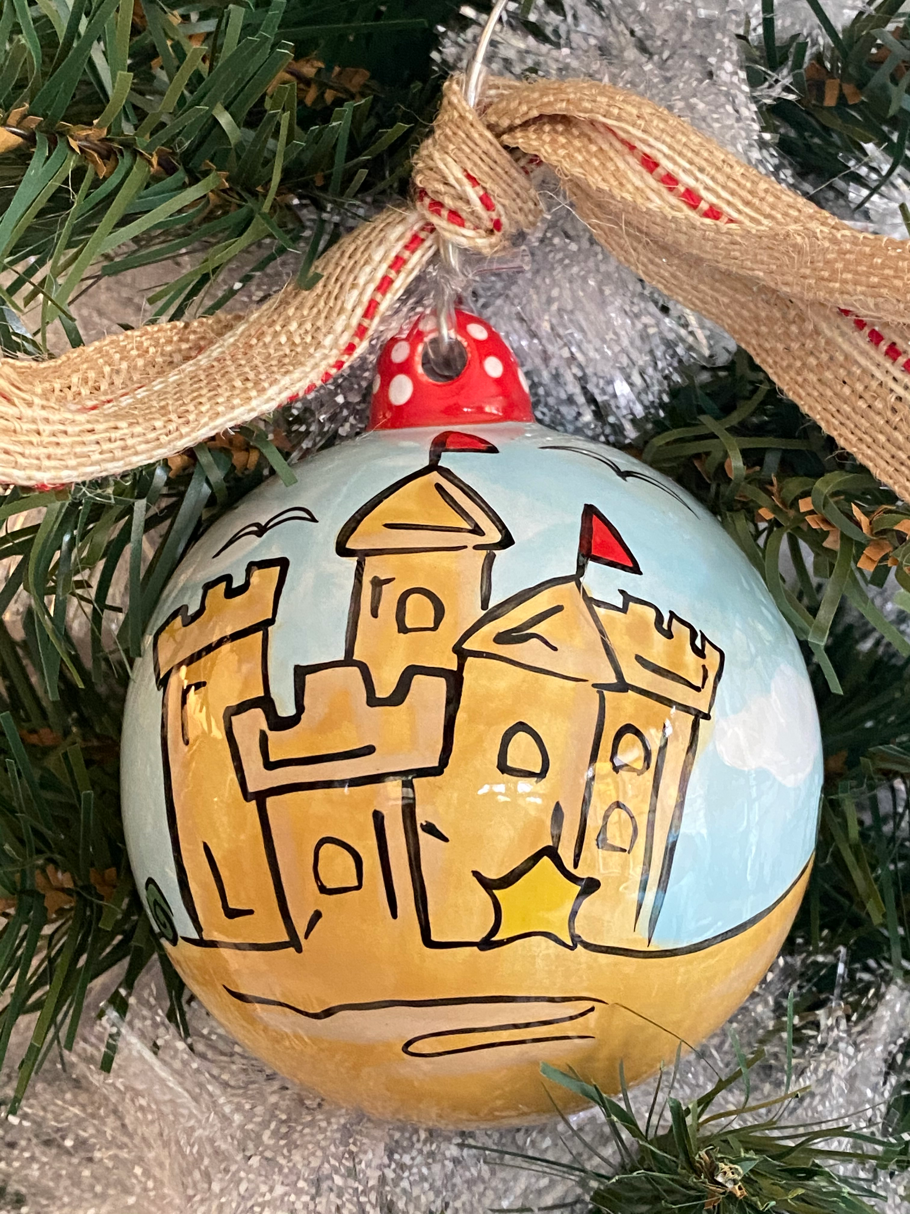Sand Castle Holiday Ornament