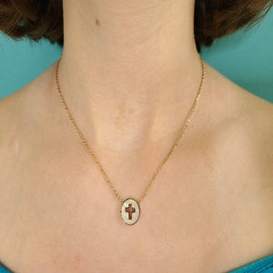 Delicate Cut Out Cross Necklace
