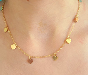 Mini Multi Heart Choker Necklace