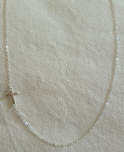 Load image into Gallery viewer, Sideways Cross Necklace
