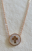 Load image into Gallery viewer, Delicate Cut Out Cross Necklace