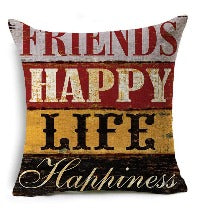 Happy Home Pillow Cover
