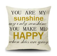 My Sunshine Pillow Cover