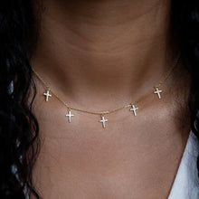 Load image into Gallery viewer, Tiny Multi Cross Choker Necklace