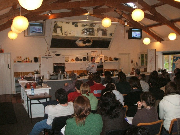Pascal with students at Ballymaloe Cookery School