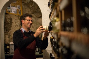 Colm McCan in Ballymaloe House cellar