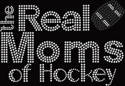 Bling Real Moms of Hockey T-shirt