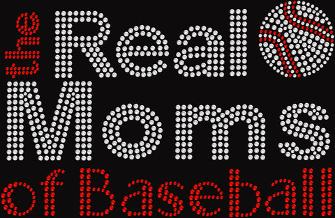 Bling Real Moms of Baseball T-shirt