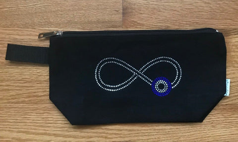 Canvas Makeup Bag - Infinity Design