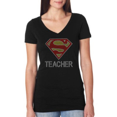 Bling Super Teacher Shirt