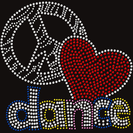 Peace Love Dance kids t-shirt