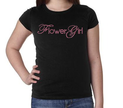 Bling Flower Girl Kids T-shirt
