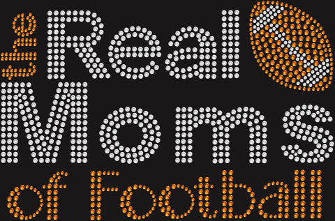 Bling Real Moms of Football  T-shirt