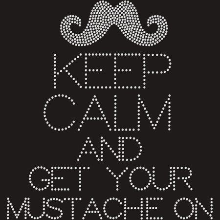 Bling Keep Calm (Mustache) Kids T-shirt
