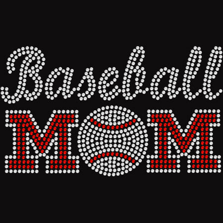Rhinestone Baseball Mom t-shirt
