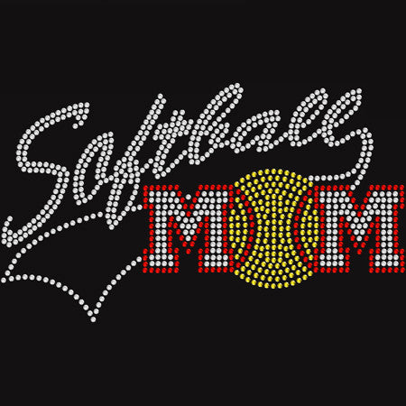 Rhinestone Softball Mom t-shirt