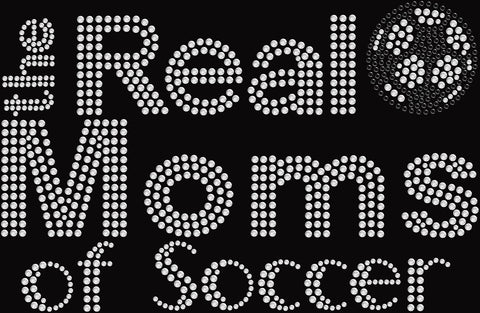 Bling Real Moms of Soccer T-shirt