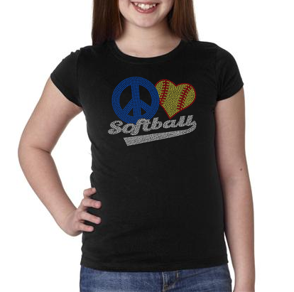 Bedazzled Softball T-shirt