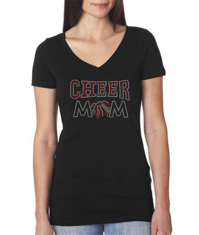 Rhinestone Cheer Mom t-shirt