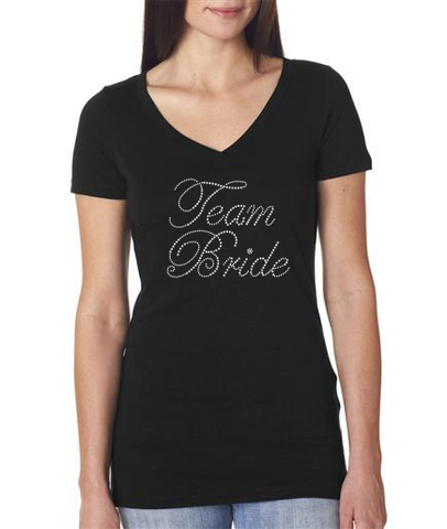 Rhinestone Team Bride t-shirt