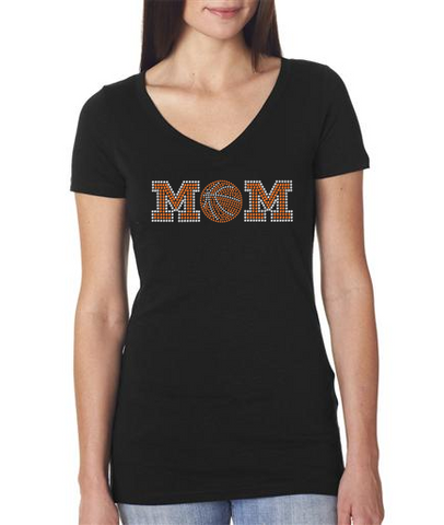 Rhinestone Basketball Mom t-shirt