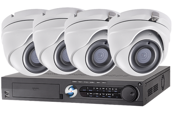 4 Channel Security Cameras System