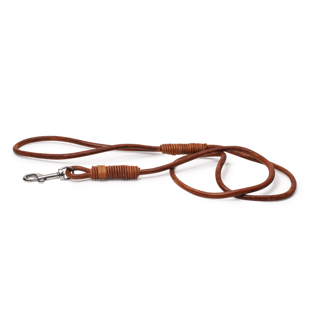 <transcy>Fixed leash, round leather</transcy>