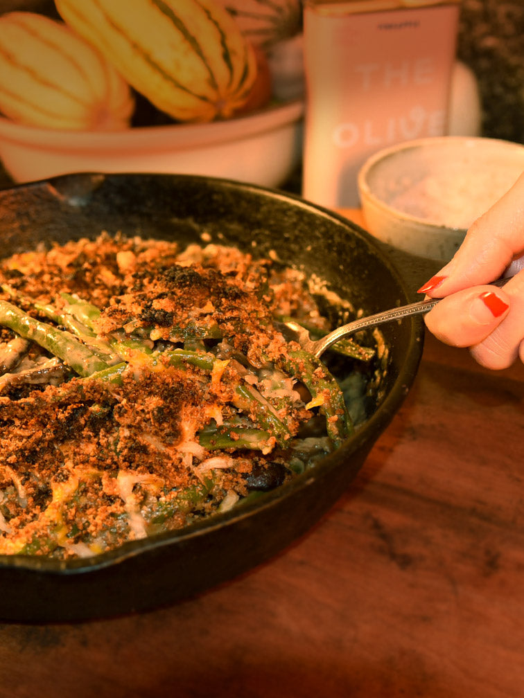 """Super Bloomed"" NYT Green Bean Casserole"