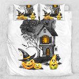 Halloween Holiday Bedding Set Watercolor Landscape Bedspreads Nightmare Home Textiles Pumpkin Comforter Cover