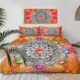 Mandala Bedding Set Luxury Duvet Cover Set Flower Home Textiles 3-Piece Pink Green Gold Bedspreads Dropshipping