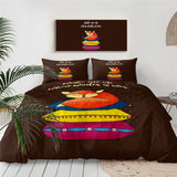 Fox Cat Bedding Set Sleeping Animal Duvet Cover Cartoon Home Textiles 3-Piece Colorful Bedspread Cute Bed Cover