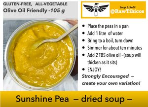 Yellow Sunshine Pea -- dried soup