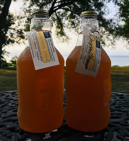 Chrysanthemum Water Kefir Concentrate - sports drink -- two growlers