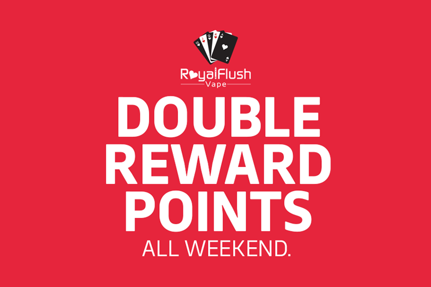 double rewards points all weekend