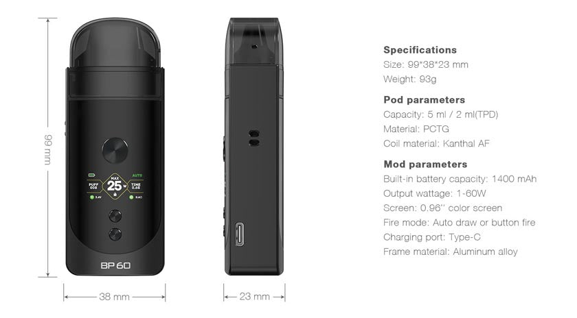 aspire-bp60-specifications