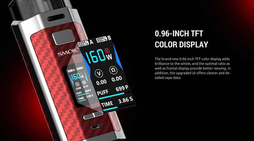 smok-rpm-160-vape-display