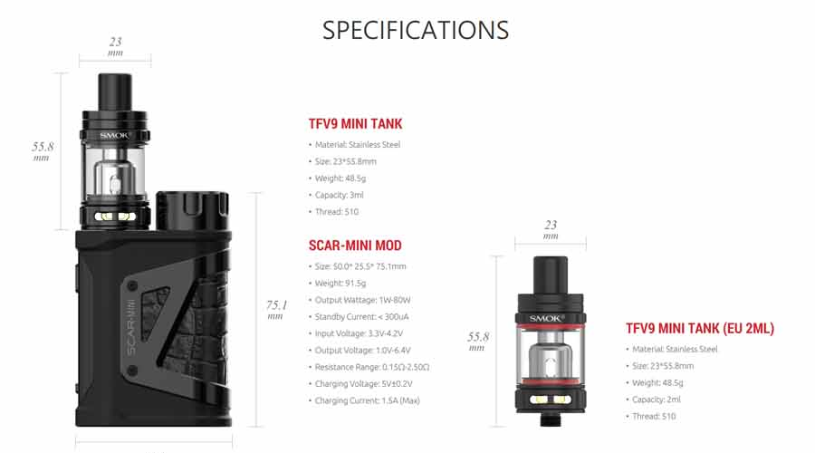 smok-scar-mini-kit-specifications