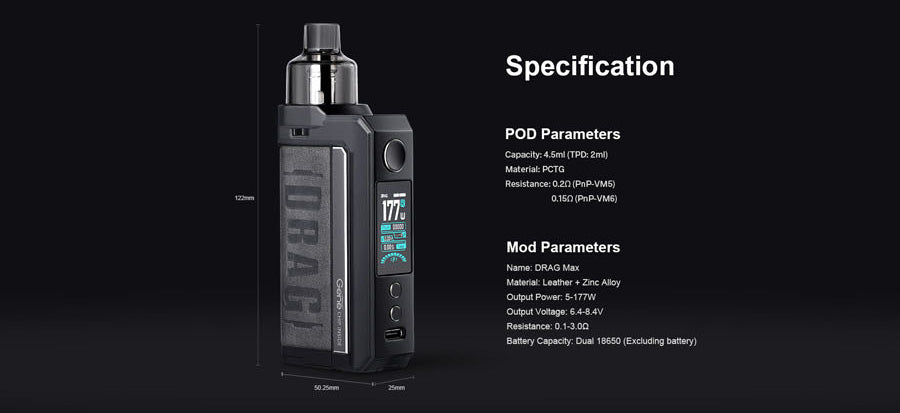 voopoo-drag-max-specifications