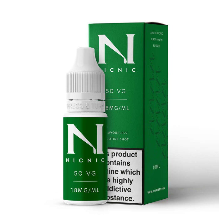 18mg 50VG Nicotine Shot by Nic Nic