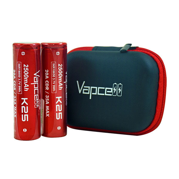 K25 2500mah 20A 18650 Battery (2 Pack) by Vapcell