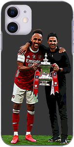 Arsenal - Aubameyang and Arteta with FA Cup 2020