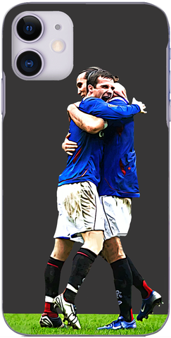 Rangers - Barry Ferguson and Dado Prso celebrate after a 1-0 win at Parkhead 2007
