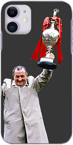 Liverpool - Bob Paisley with the league title after his last game in charge 1983