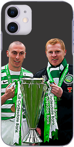 Celtic - Scott Brown and Neil Lennon with the title in 2013