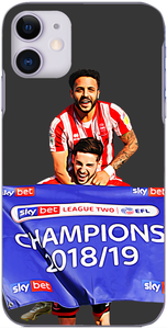 Lincoln City - Tom Pett and Bruno Andrade celebrate winning League 2 2019