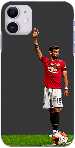 Man United - Bruno Fernandes prepares to whip a corner in 2020