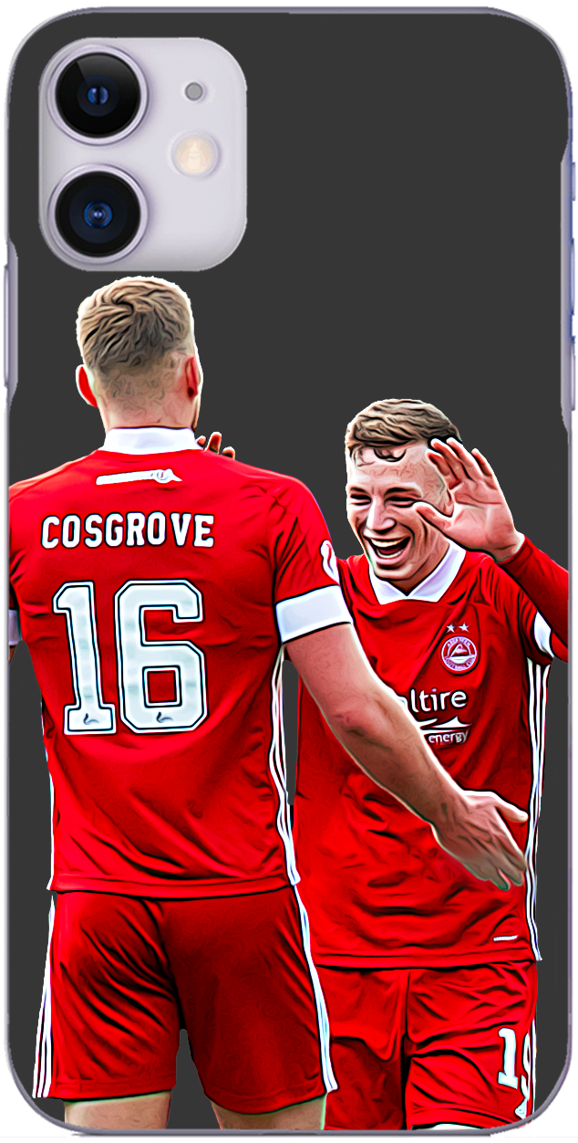 Aberdeen - Sam Cosgrove and Lewis Ferguson celebrate a goal at Easter Road 2020