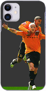 Hull City - Dean Windass celebrates his goal with Fraizer Campbell Championship play off final 2008
